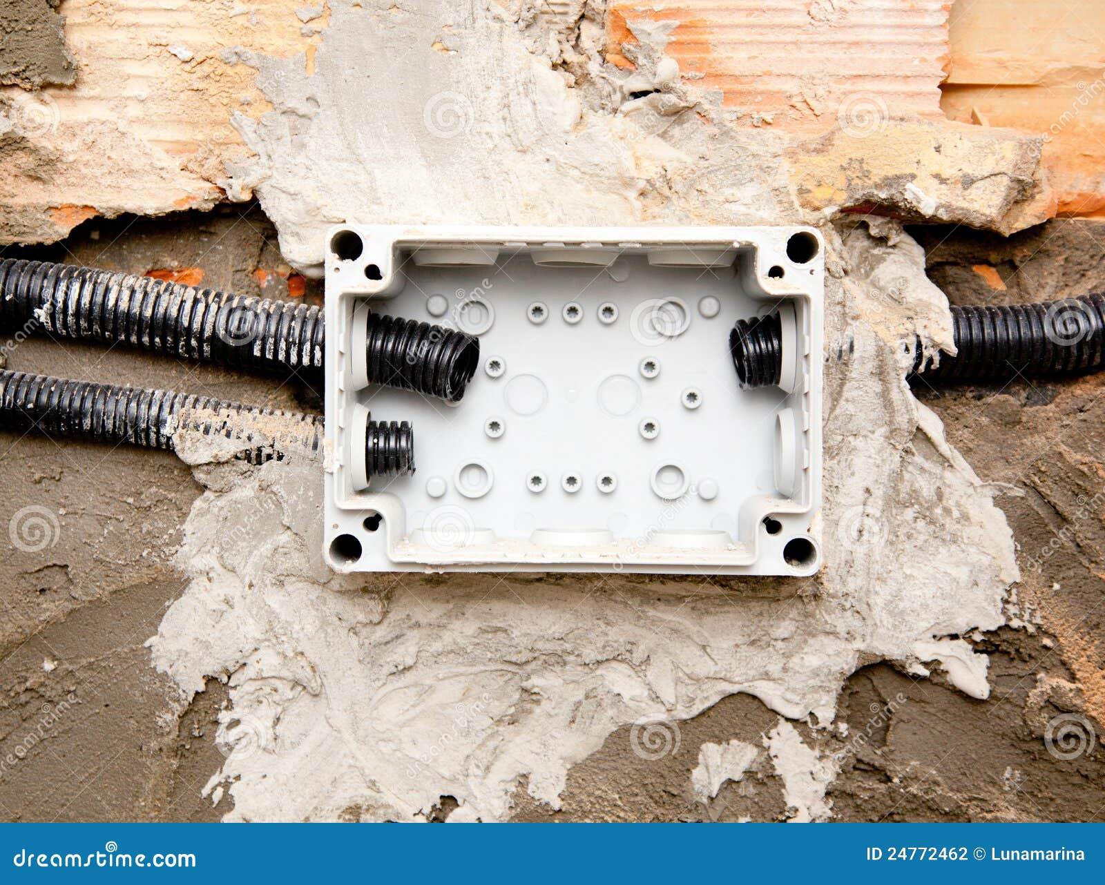 Tubo eléctrico del conducto de la bobina en la caja integrada en pared