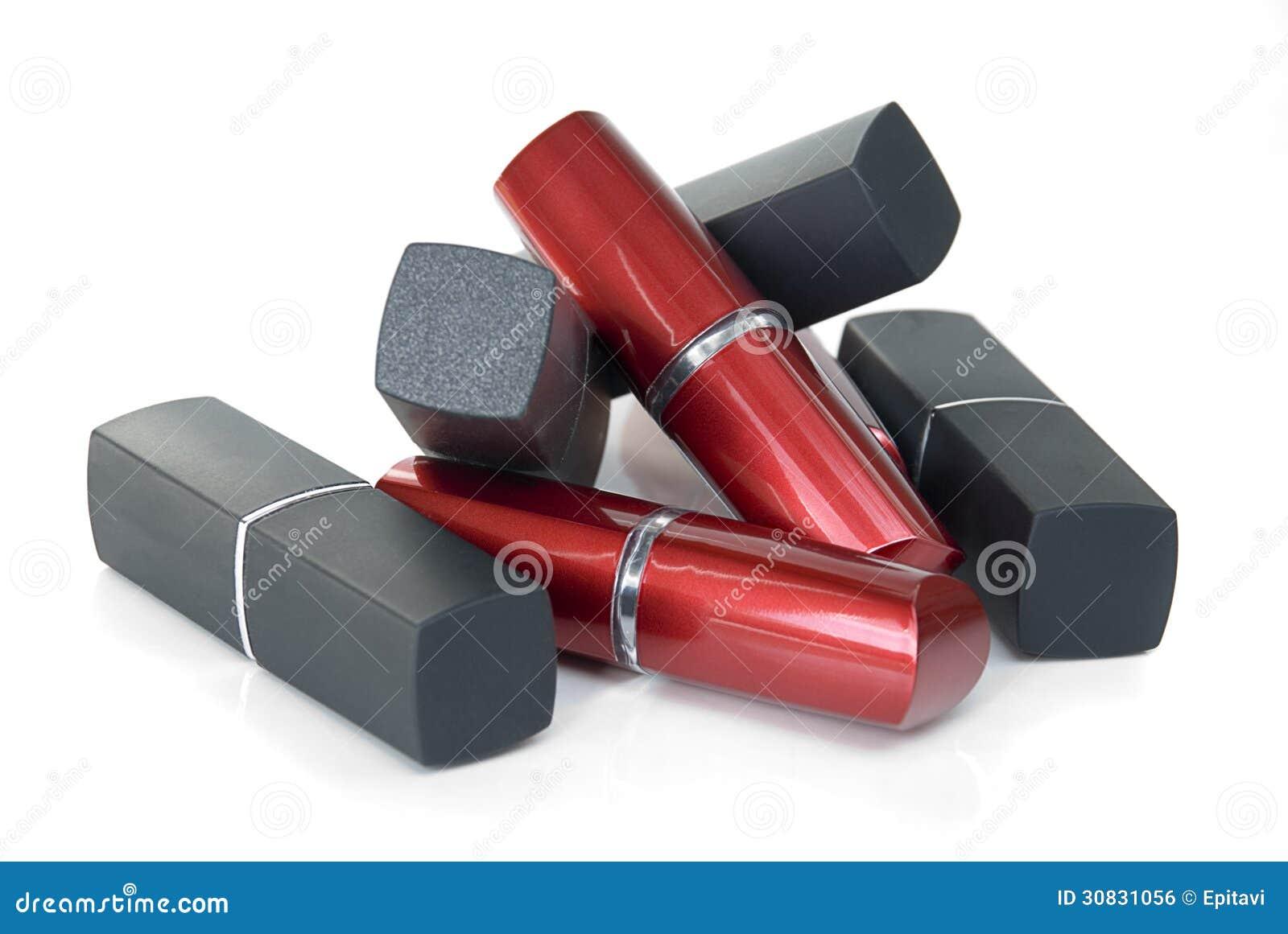 Tubo rosso e nero di rossetto