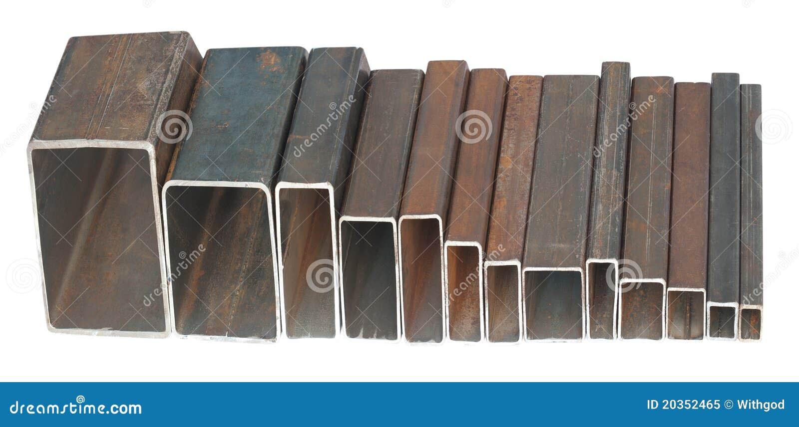 Tubos de acero rectangulares imagen de archivo imagen de - Tubos cuadrados acero ...