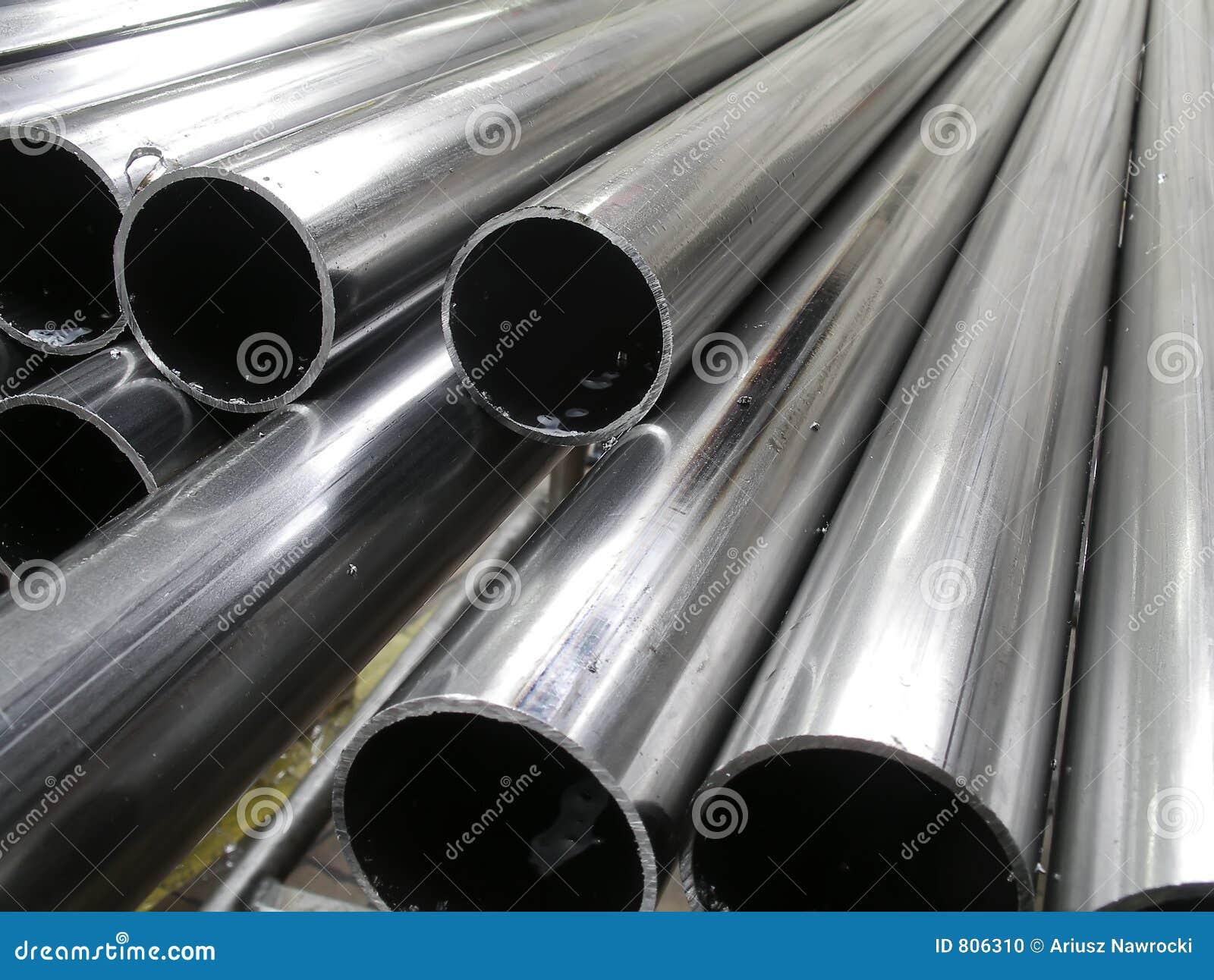 Tubos de aluminio foto de archivo imagen de redondo - Tubo de aluminio redondo ...