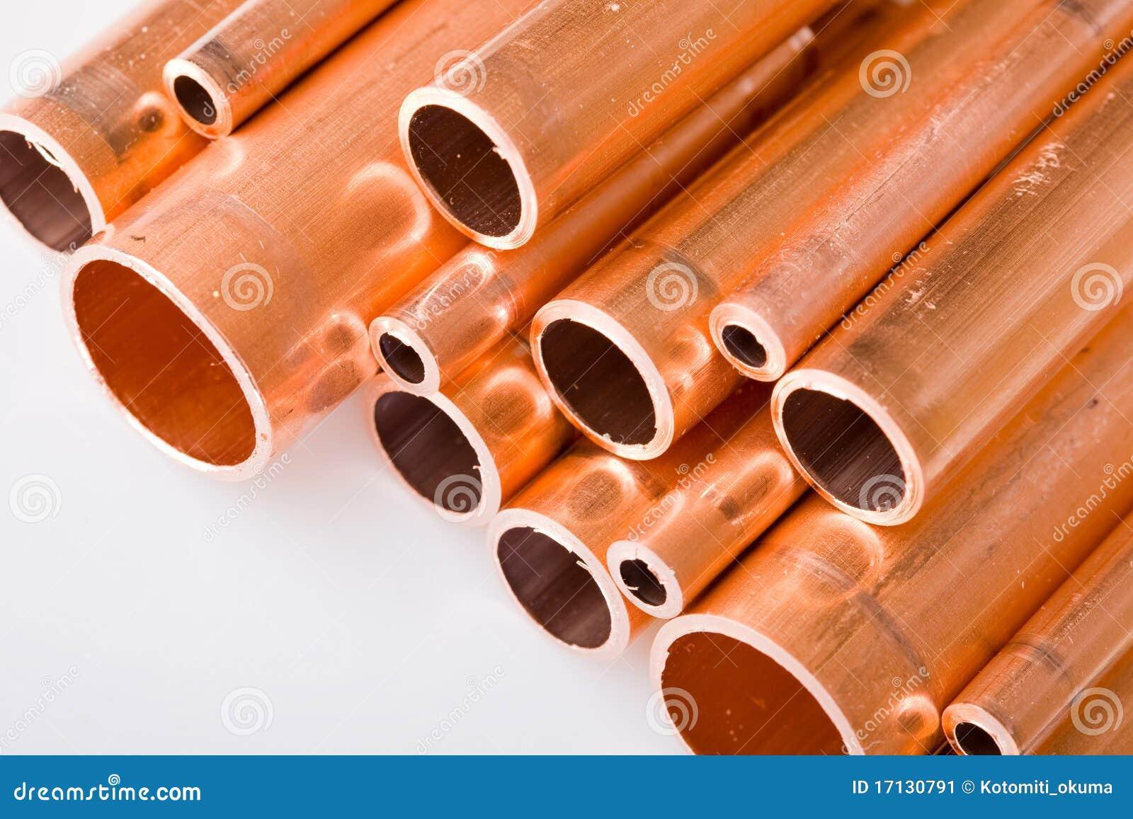 Tubos de cobre de diverso di metro imagen de archivo - Precio de tuberia de cobre ...