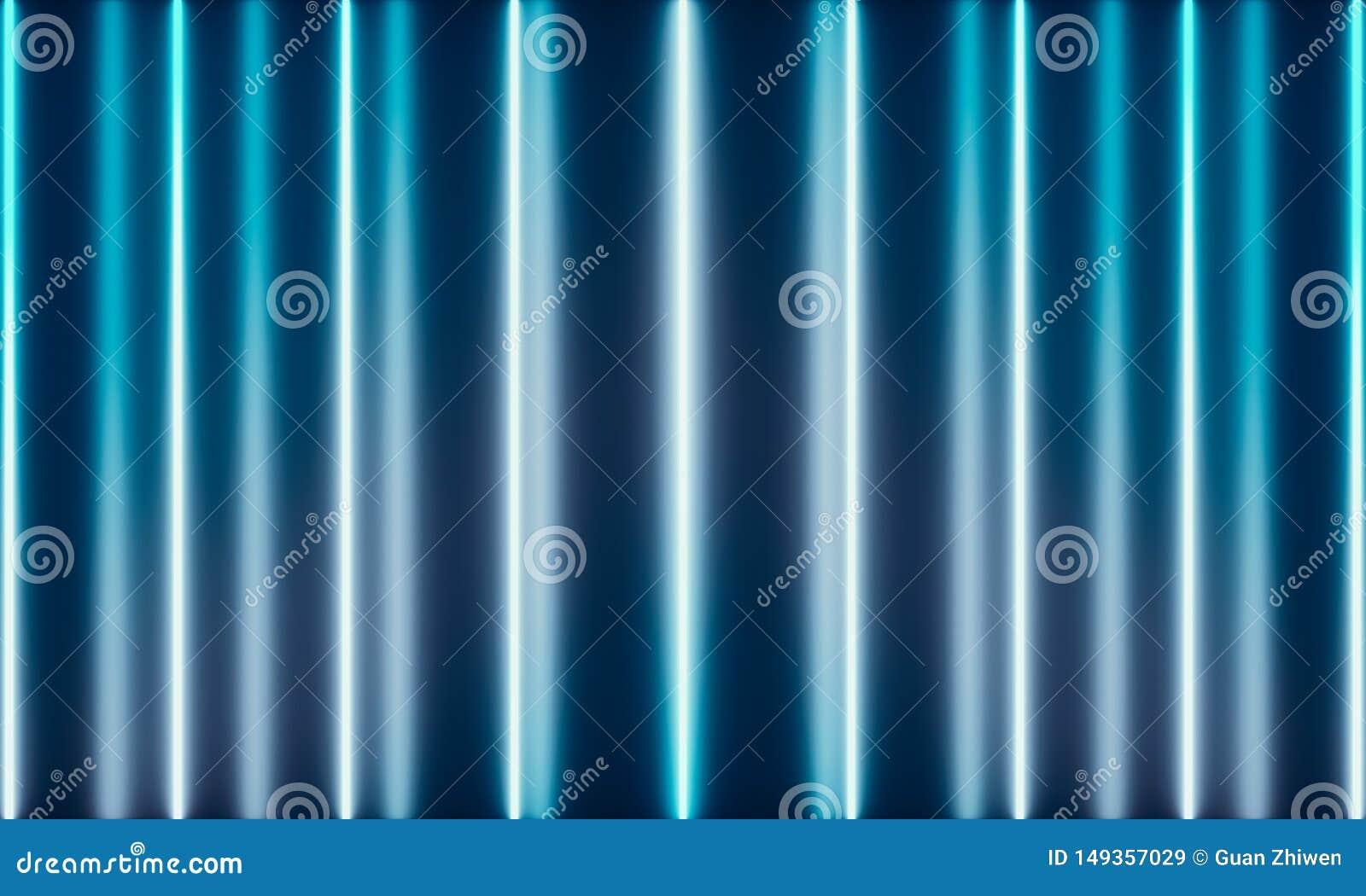 Tubos de ne?n con la luz maravillosa