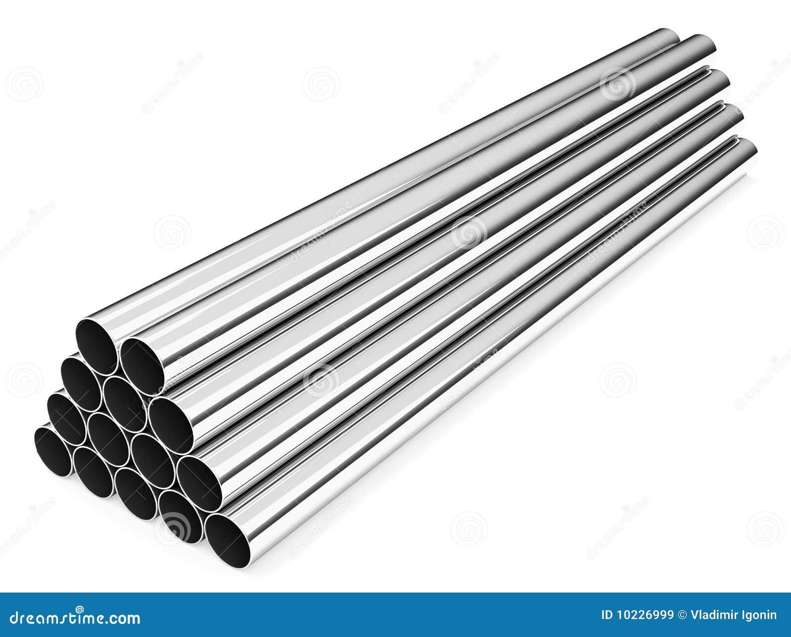 Tubos del acero inoxidable im genes de archivo libres de for Pilas de acero inoxidable