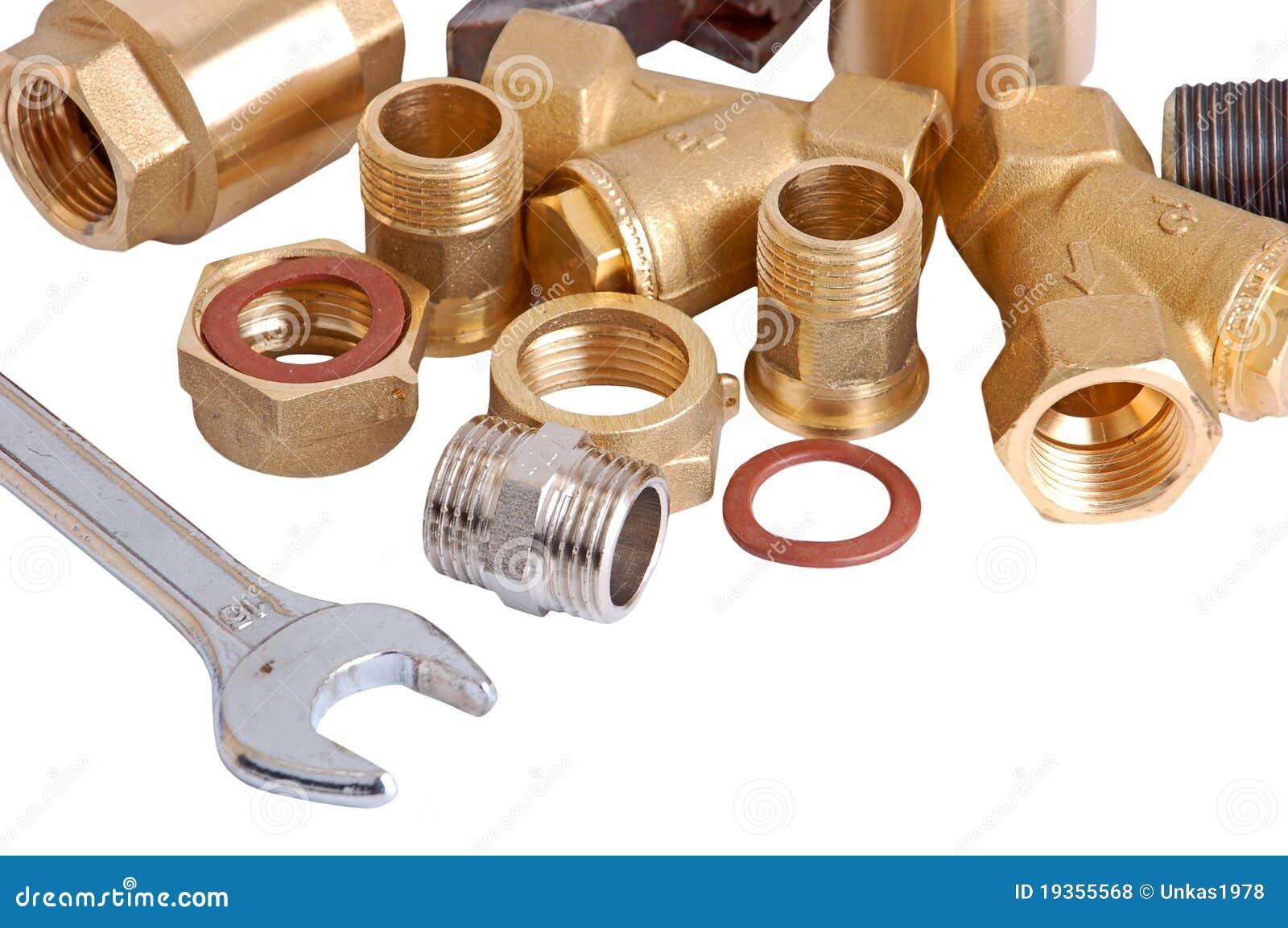 Tubulação e chave do encanamento