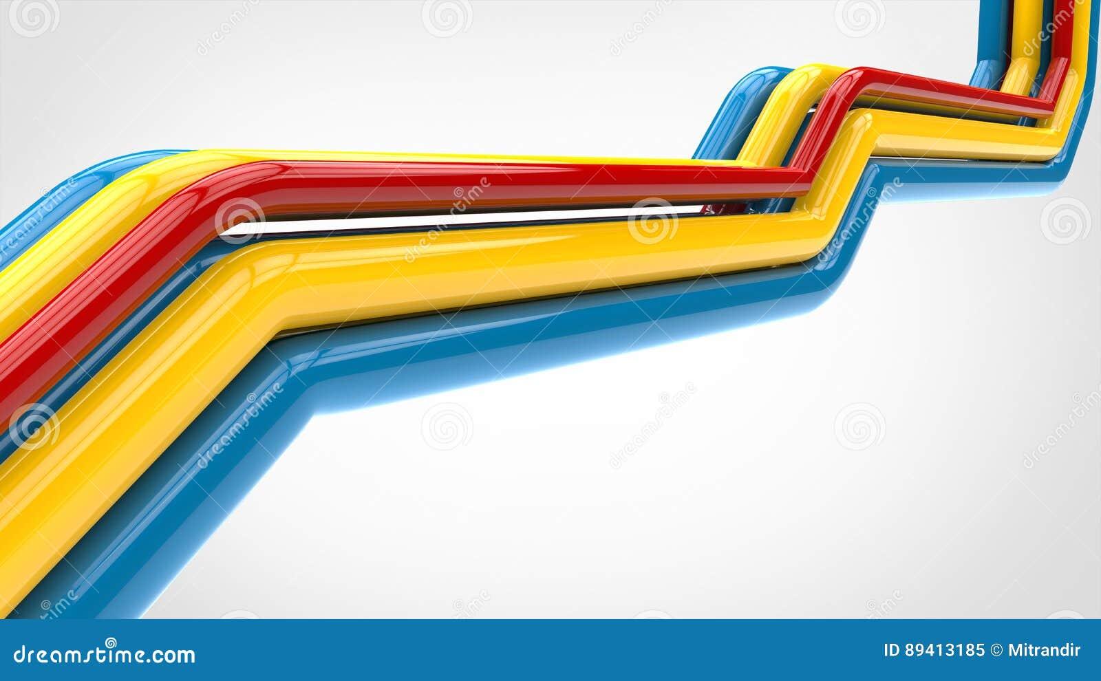 Tubulações coloridos de Apstract