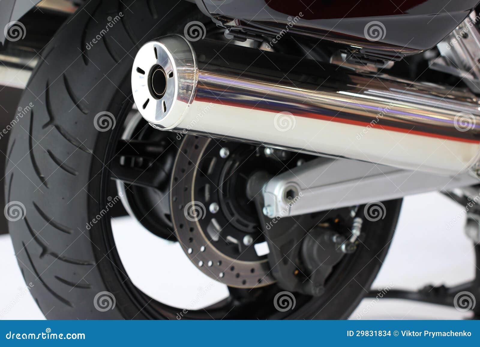 Tubulações de exaustão da motocicleta