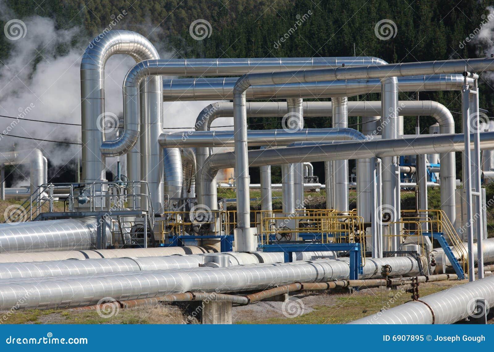 Tubulações de vapor, energia Geothermal