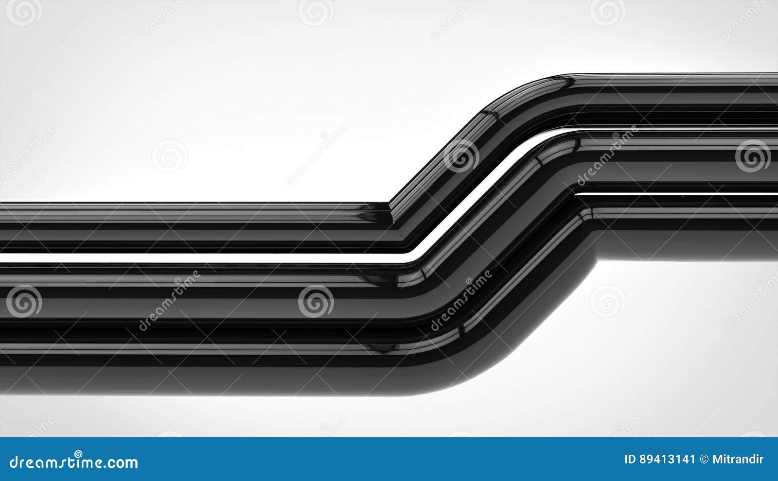 Tubulações pretas brilhantes