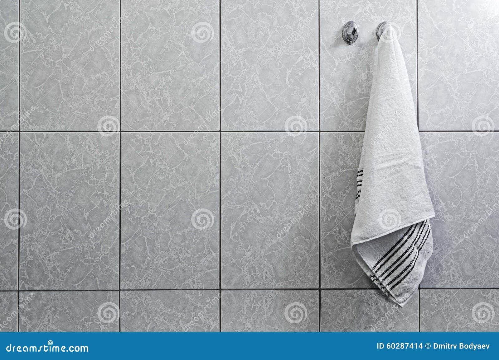 Tuch Das Am Haken Hängt Stockfoto Bild Von Obacht Sauber 60287414
