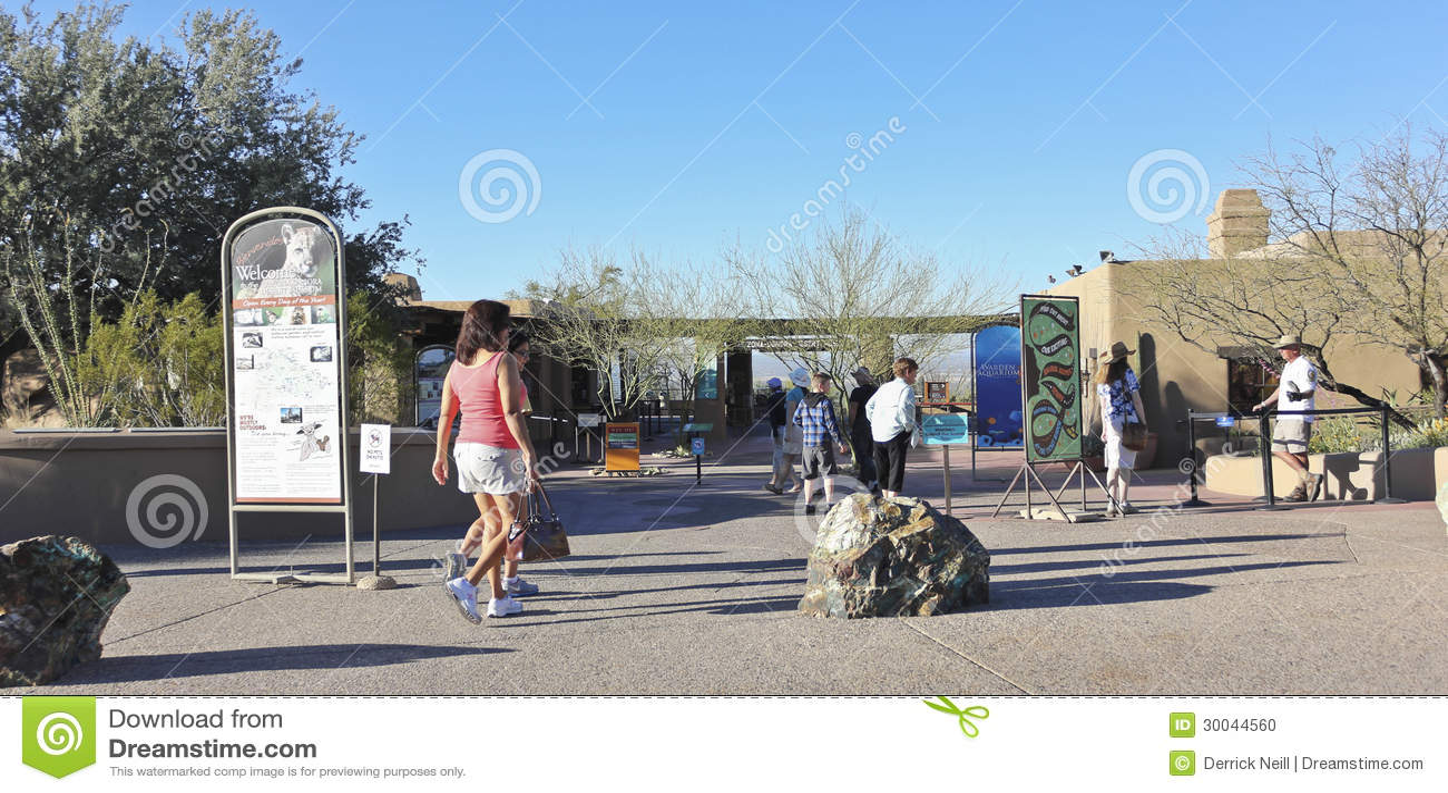 An Arizona Sonora Desert Museum Entrance, Tucson, Arizona