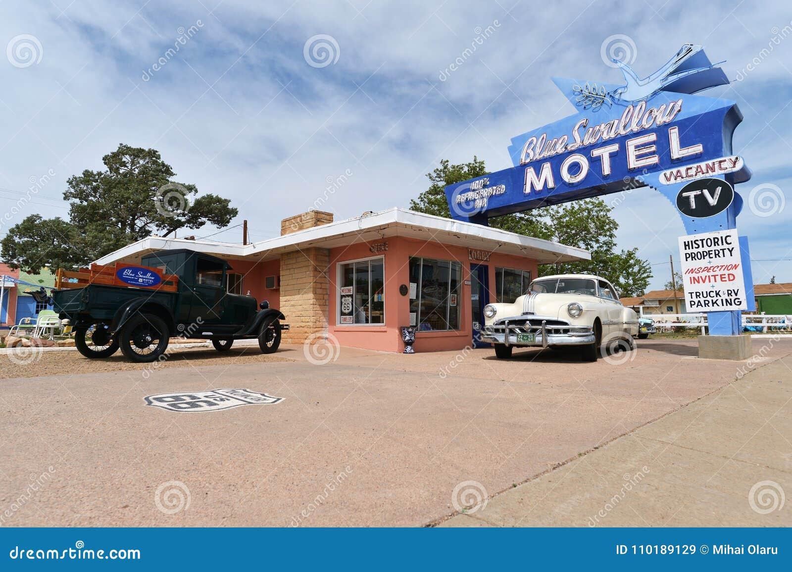 Tucumcari, New Mexico, de V.S., 25 April, 2017: Oud Motel op Route 66