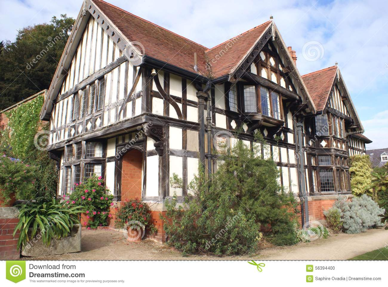 Tudor Architecture tudor architecture stock photo - image: 56394400