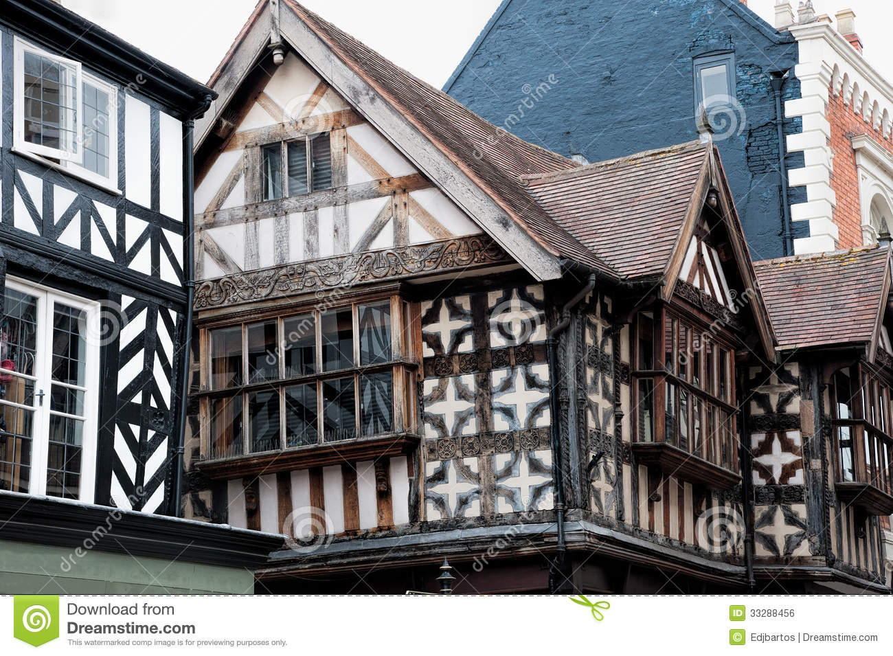 Tudor Facade tudor buildings royalty free stock image - image: 33288456