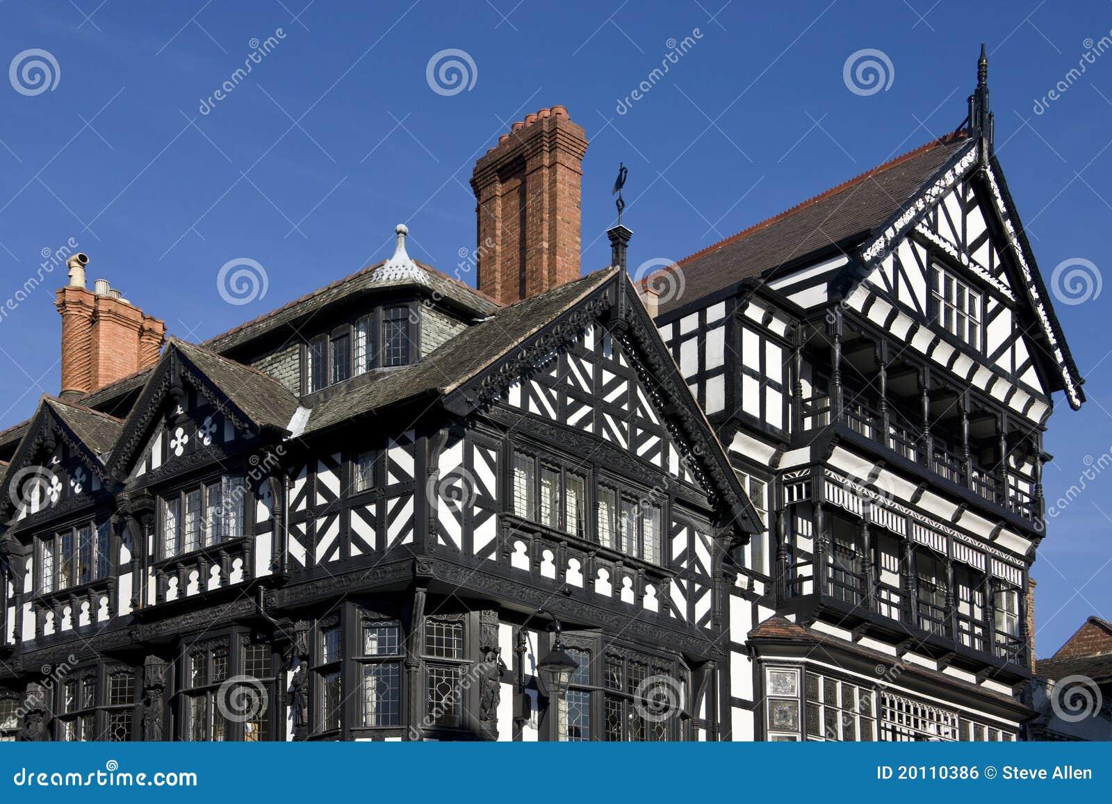 Tudor chester Англии зданий