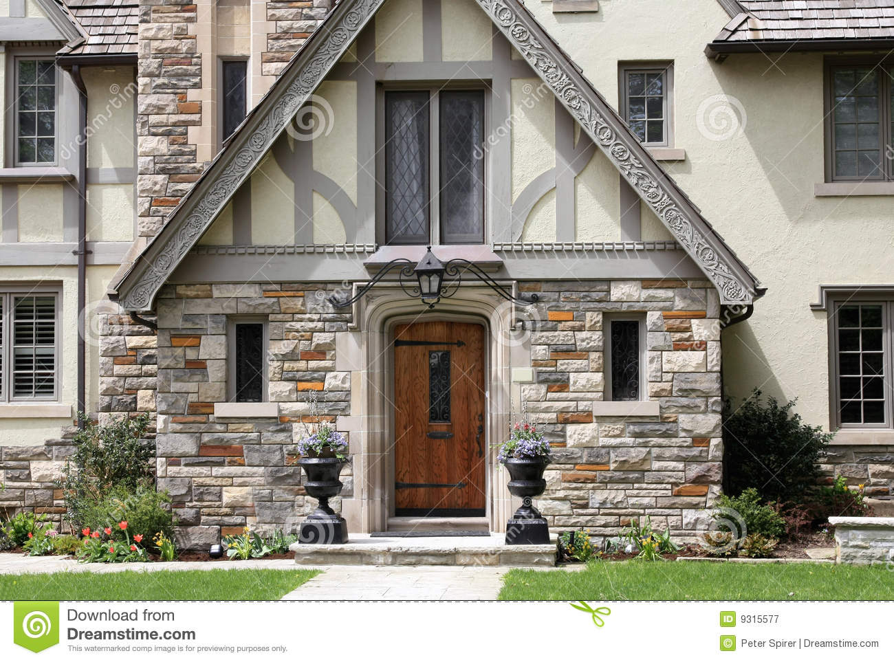 Tudor Style House Entrance Royalty Free Stock Photography