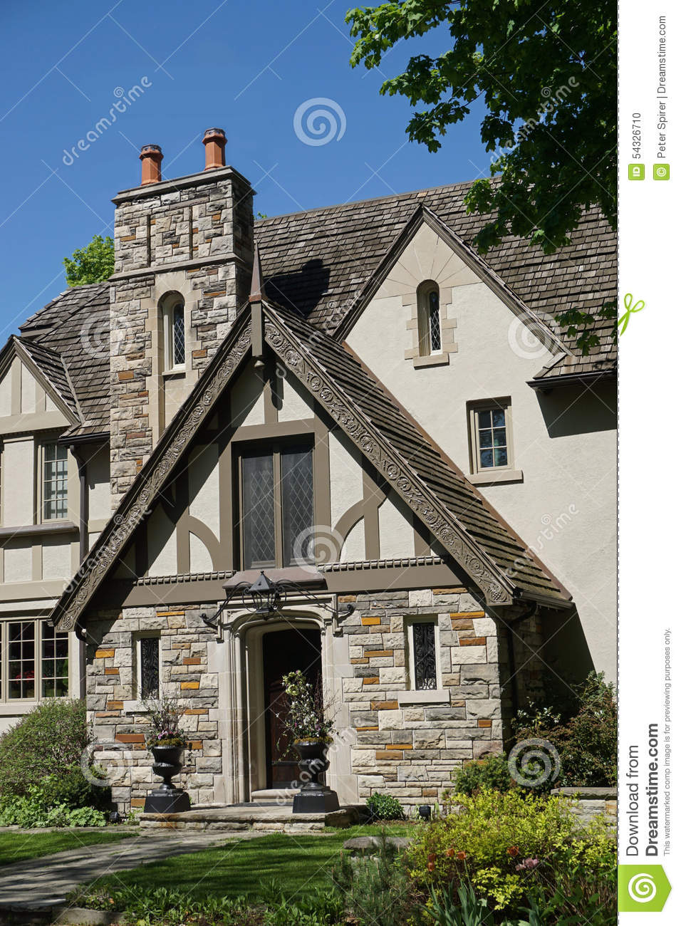 tudor style house entrance stock photo image 54326710