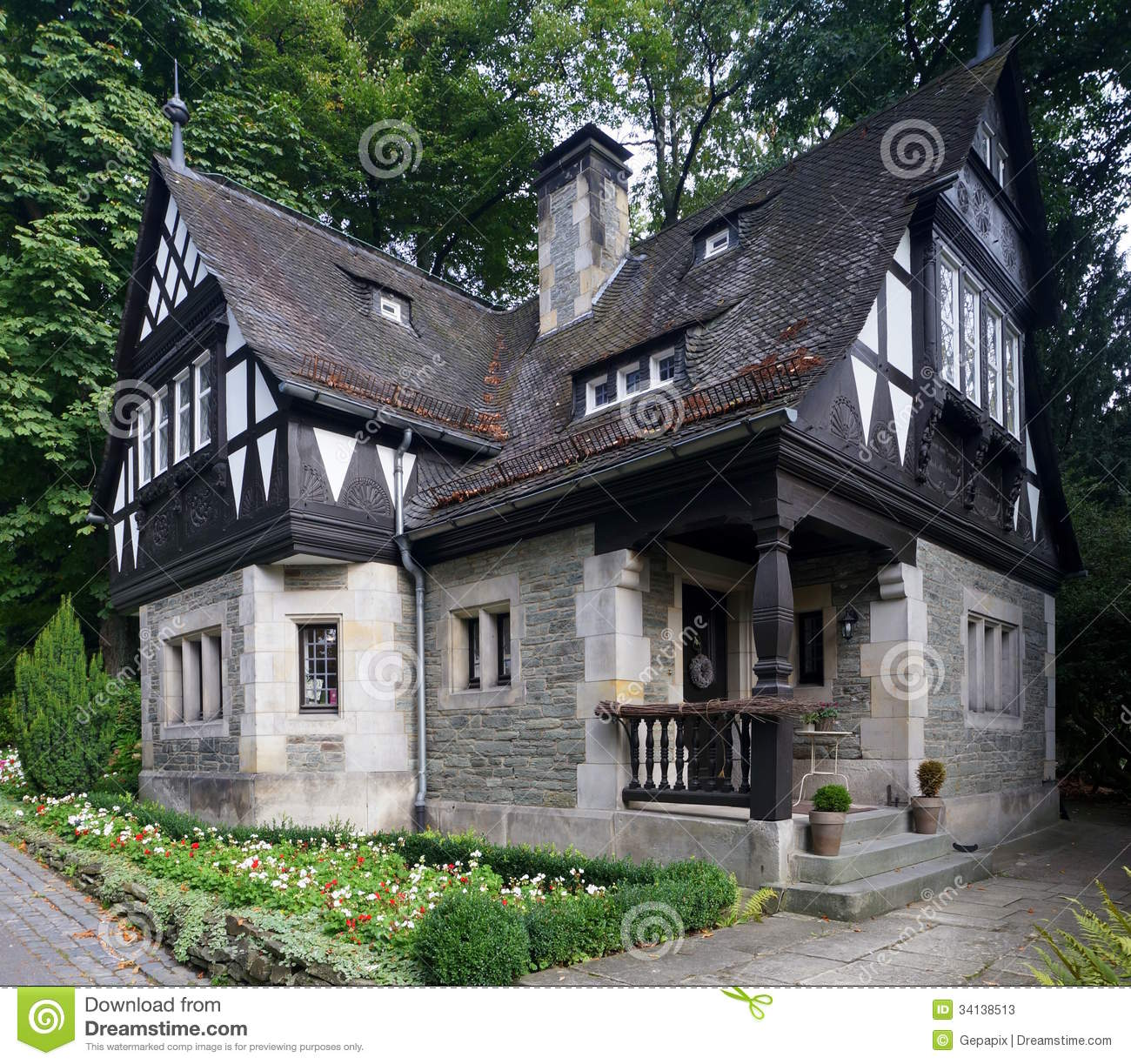 tudor style house stock photos image 34138513