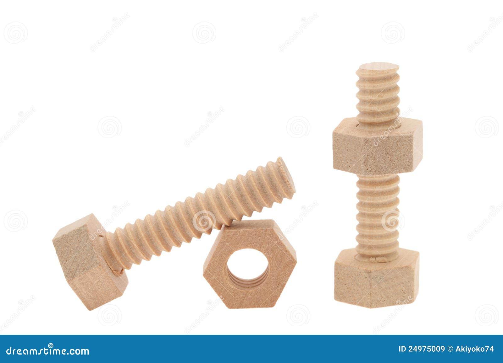 Tuercas de madera y tornillos - Tornillo para madera ...