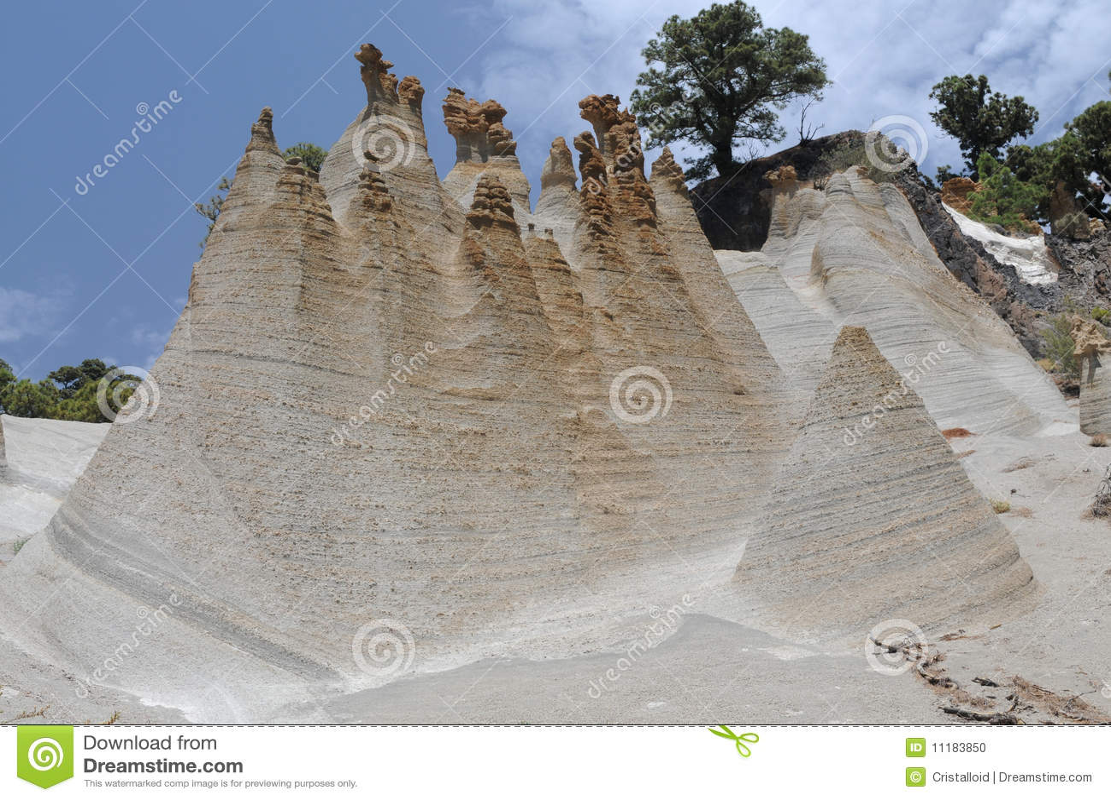 Tuff formations