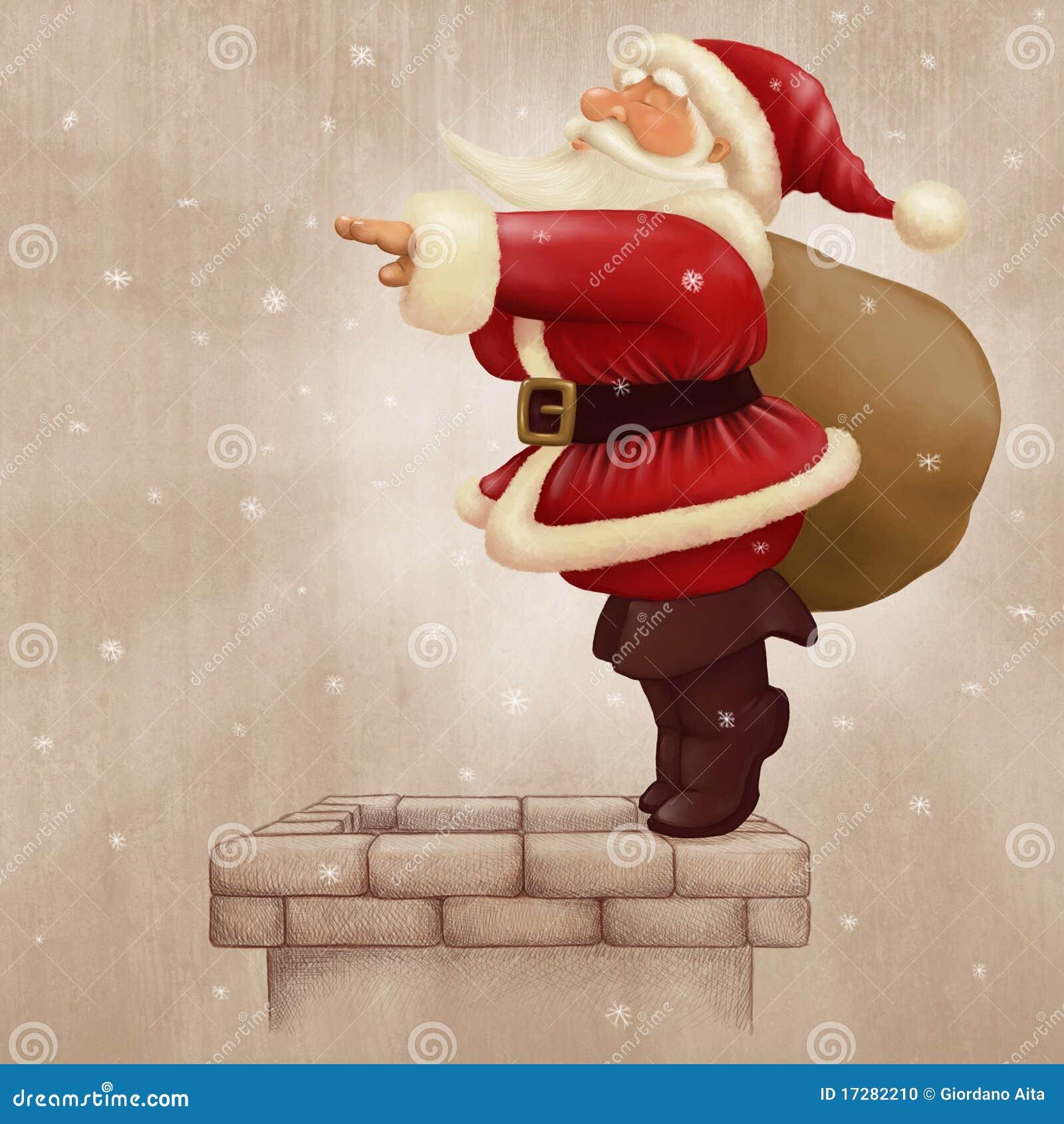Tuffo del Babbo Natale nel camino