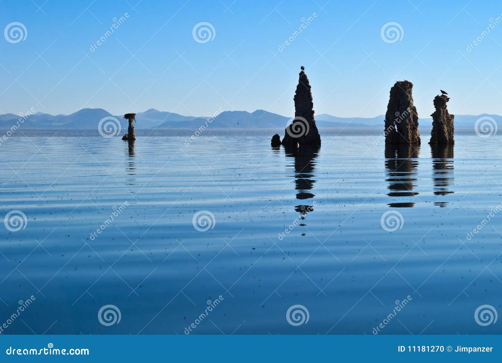 Tufo no mono lago