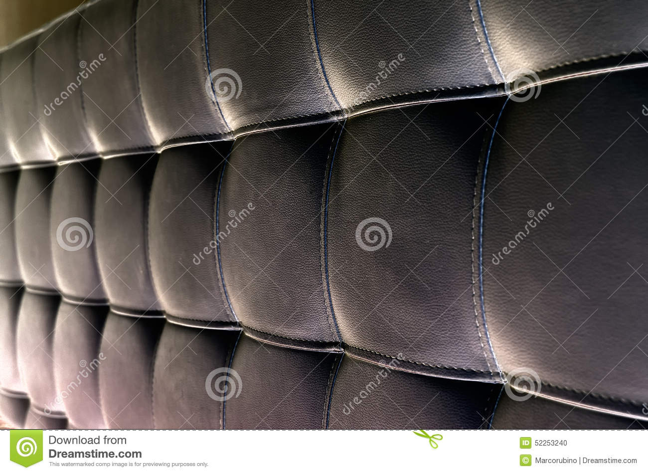 Tufted Leather Headboard Texture For Background Stock