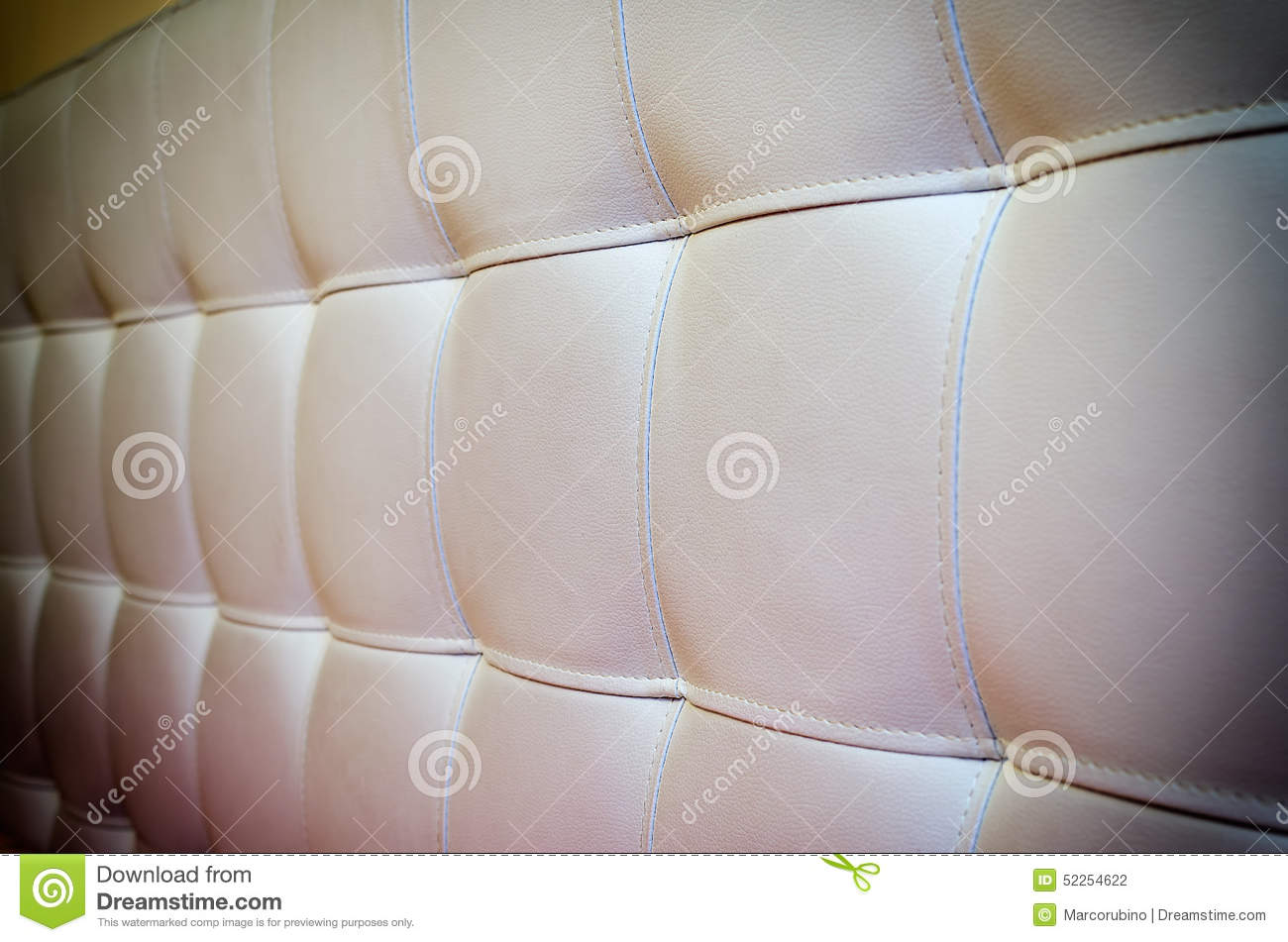 Tufted White Leather Headboard Texture For Background With
