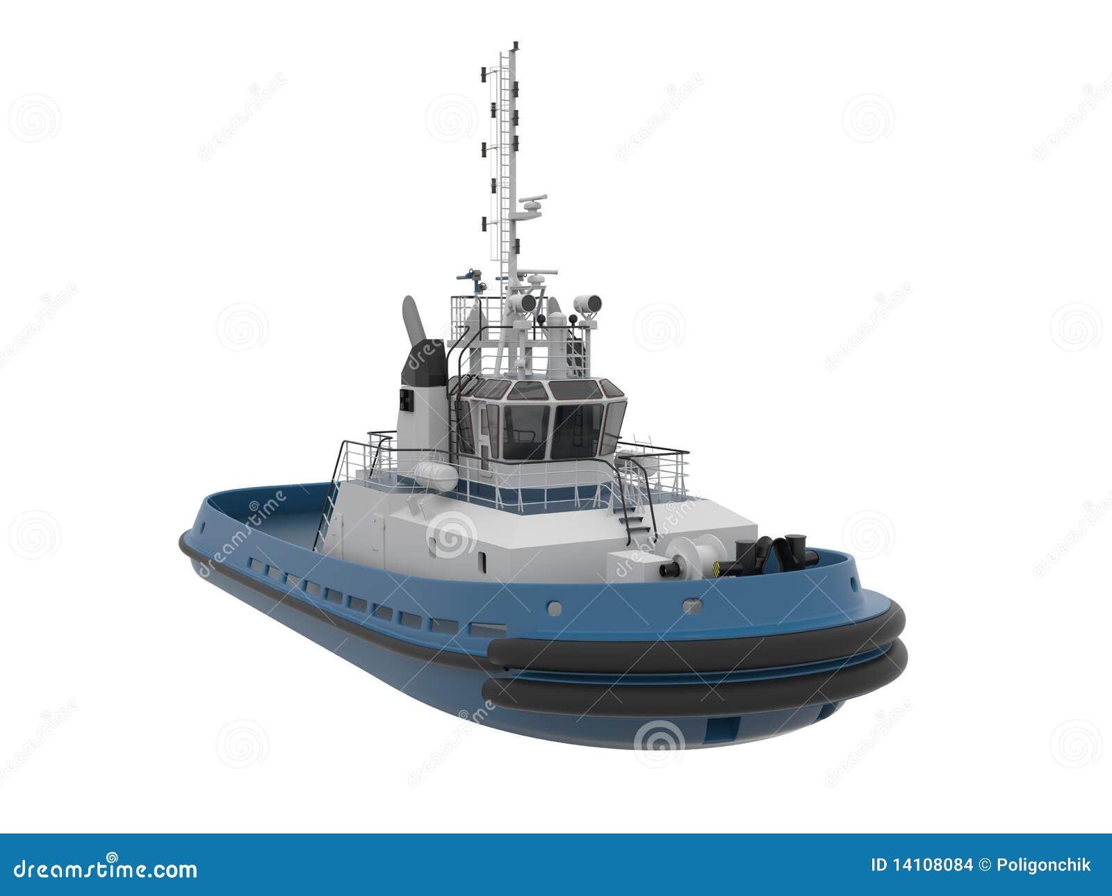 Tug boat. stock illustration. Image of nautical, infrastructure - 14108084