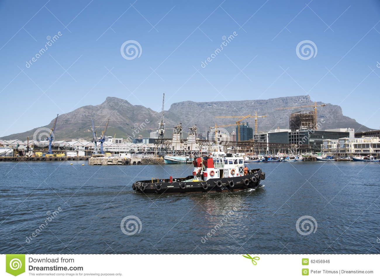Tugboat On Cape Town Harbour South Africa Editorial Photo - Image: 62456946