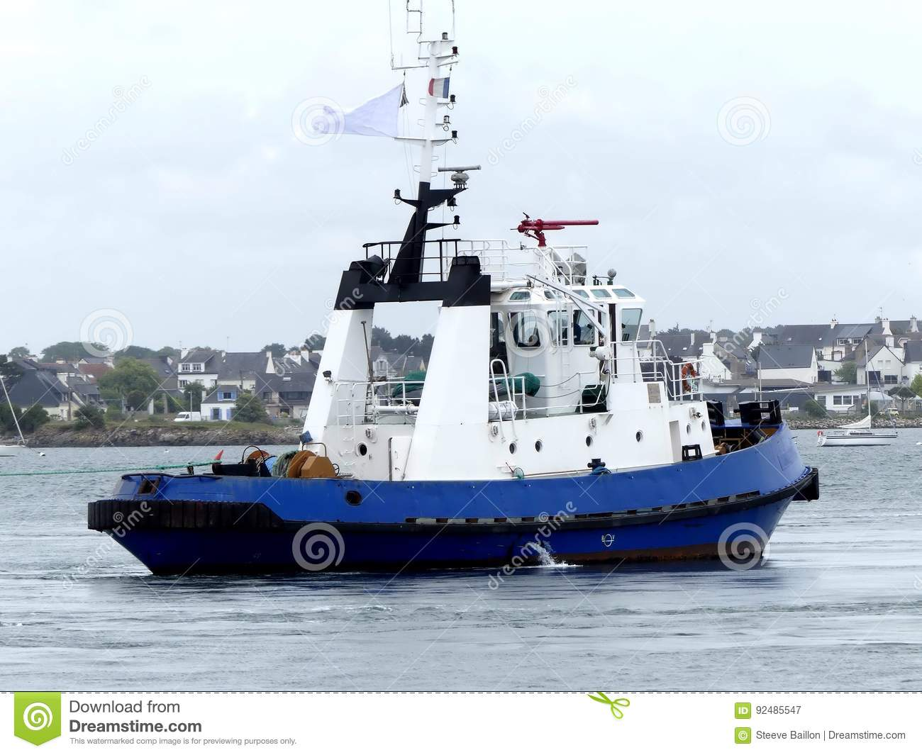 Tugboat in operations