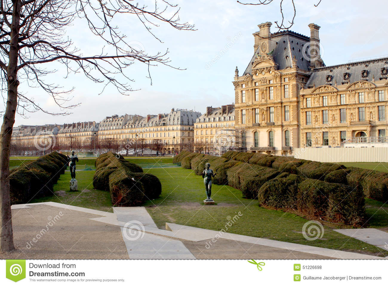 Tuileries garden paris stock photo image 51226698 for Jardin je france