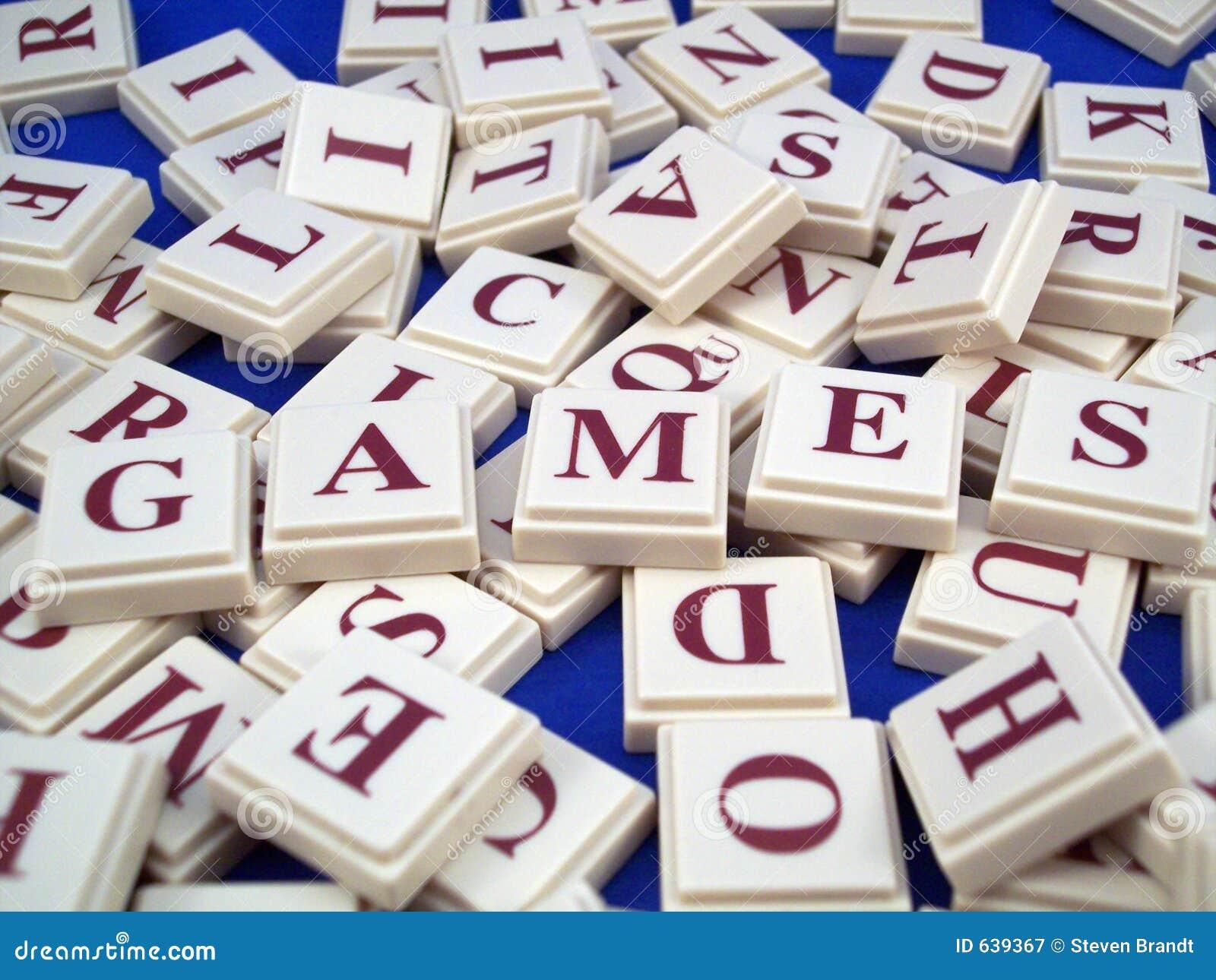 Tuiles de lettre de jeux
