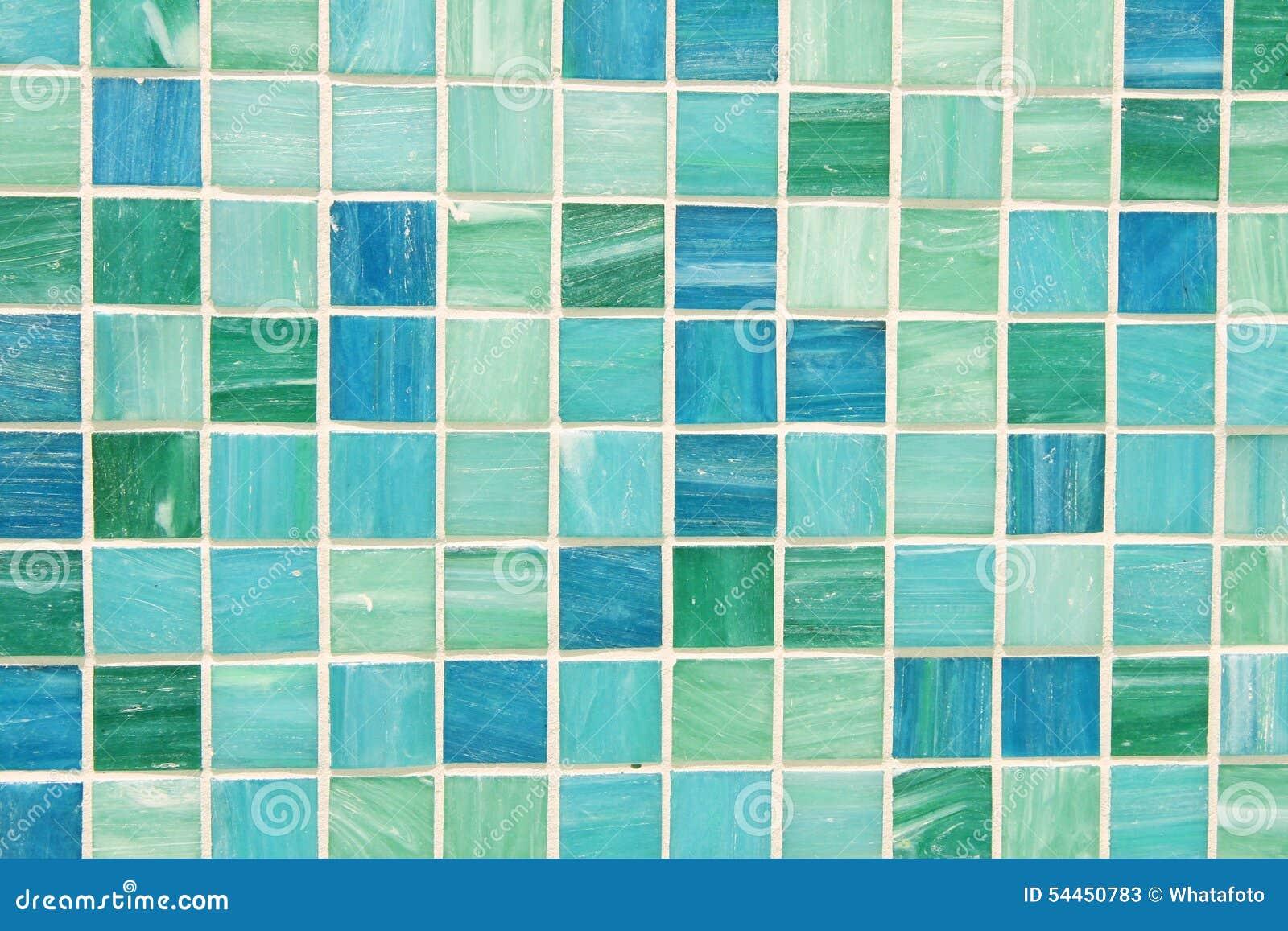 Tuiles De Mosaïque Dans Le Bleu De Turquoise Vert Image stock ...
