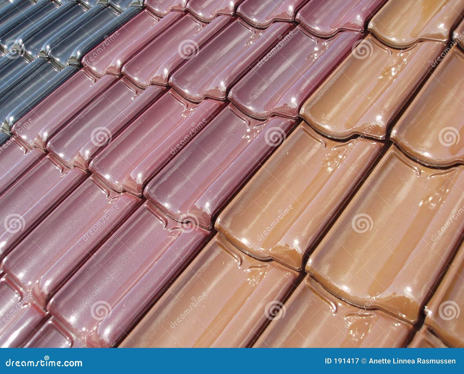 Tuiles de toit colorées
