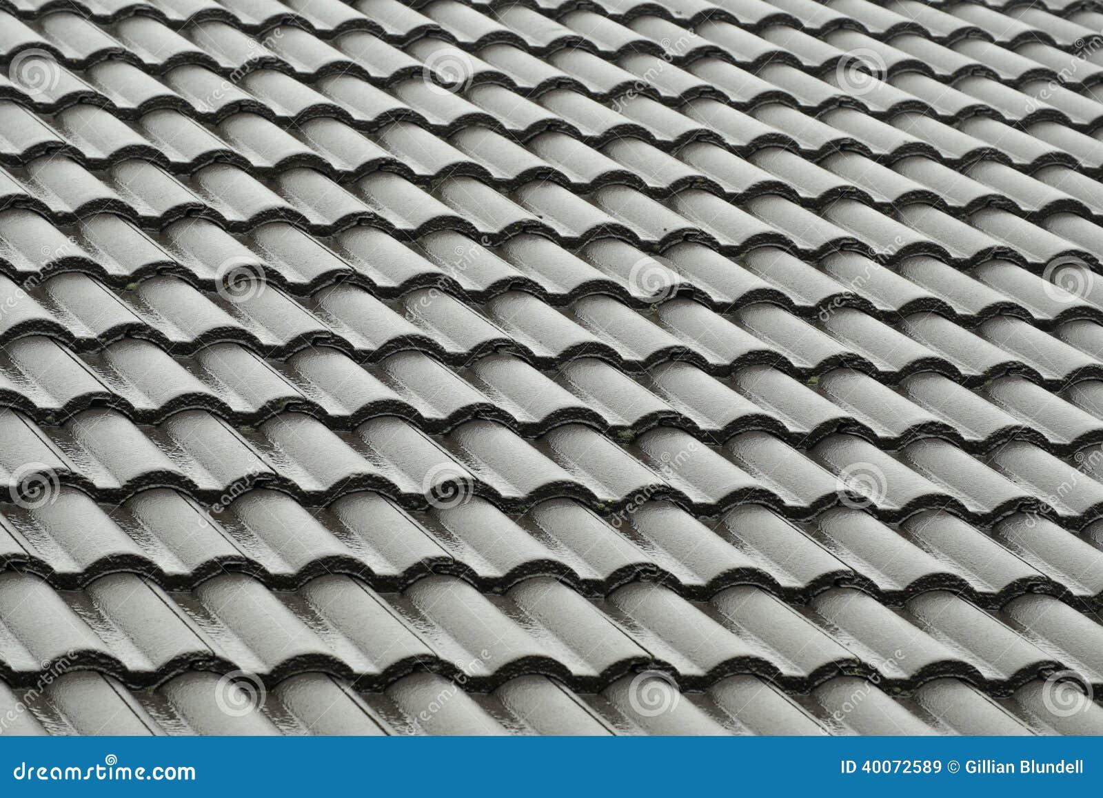 tuiles de toit grises sous la pluie photo stock image. Black Bedroom Furniture Sets. Home Design Ideas