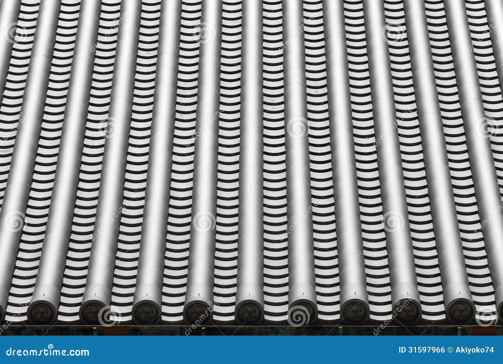 tuiles de toit japonaises de temple image libre de droits. Black Bedroom Furniture Sets. Home Design Ideas