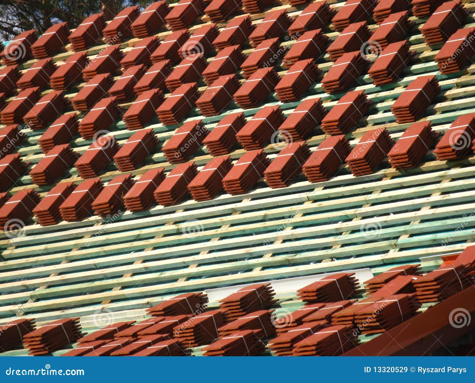 tuiles de toit rouges images libres de droits image 13320529. Black Bedroom Furniture Sets. Home Design Ideas