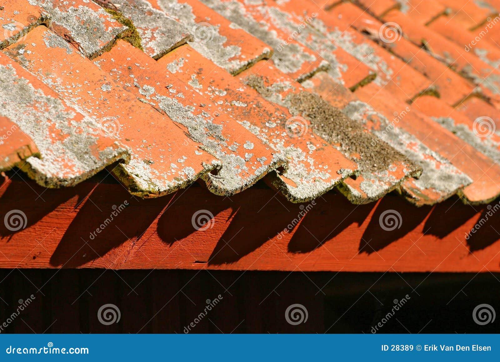 Tuiles de toiture rouges