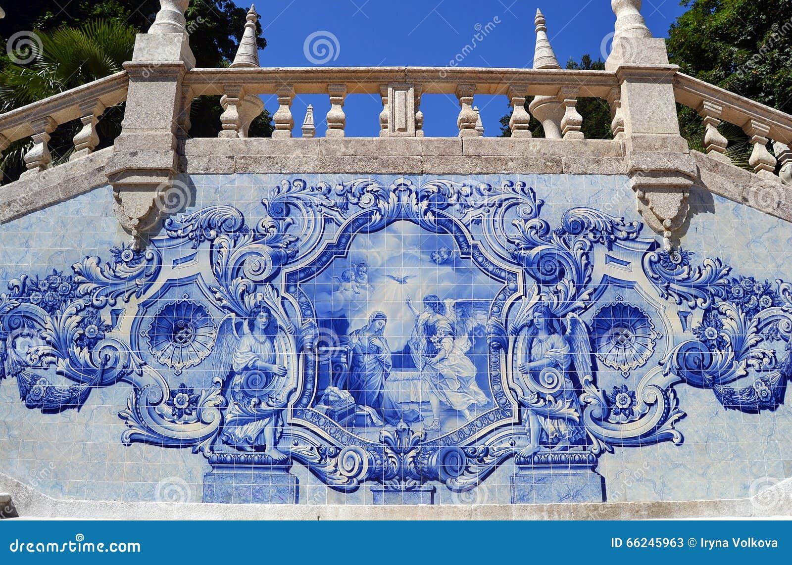 Tuiles de vintage d azulejo de scène d annonce