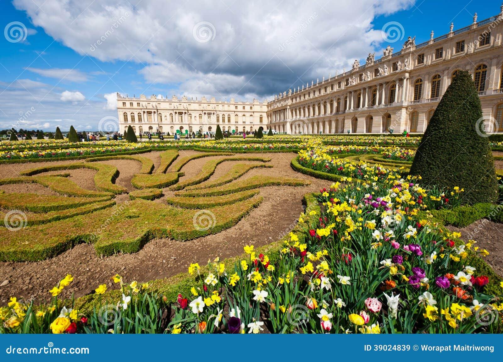 Paleis Van Versailles Tuin.Tuin Van Paleis Van Versailles Stock Afbeelding Afbeelding