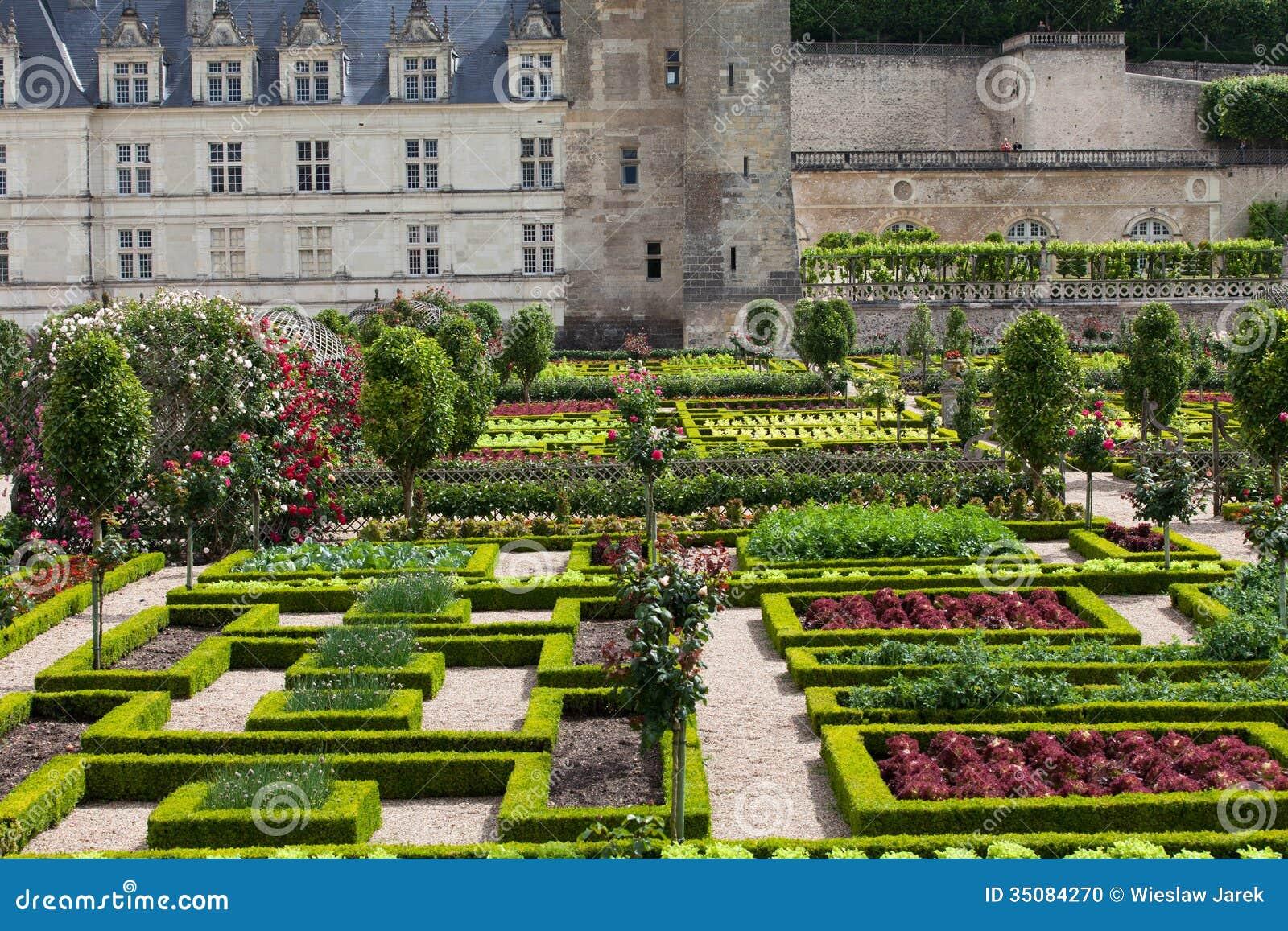 Tuinen en chateau de villandry stock foto afbeelding 35084270 - Tuin decoratie buitenkant ...