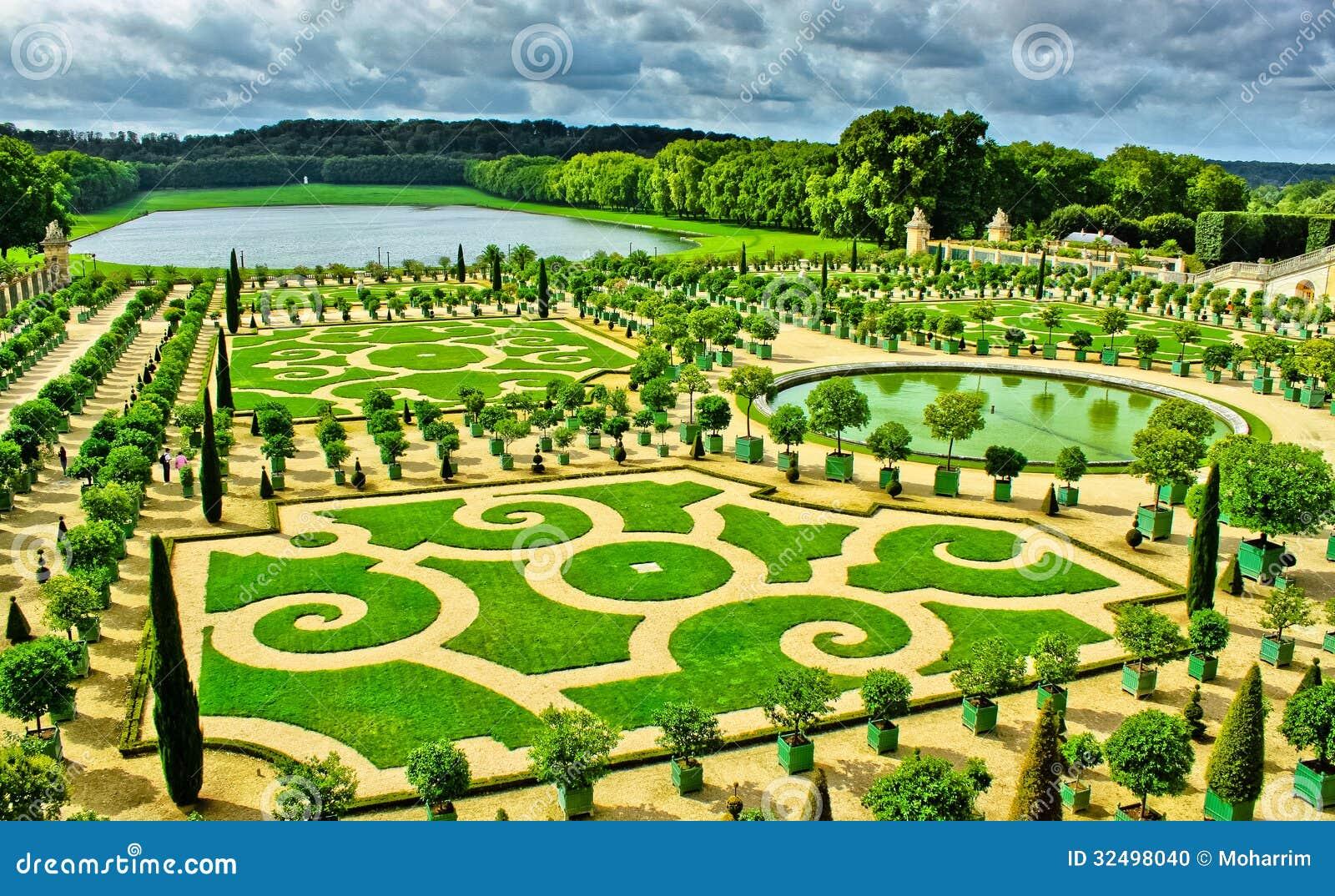Tuinen Van Versailles Stock Foto Afbeelding Bestaande Uit Frans