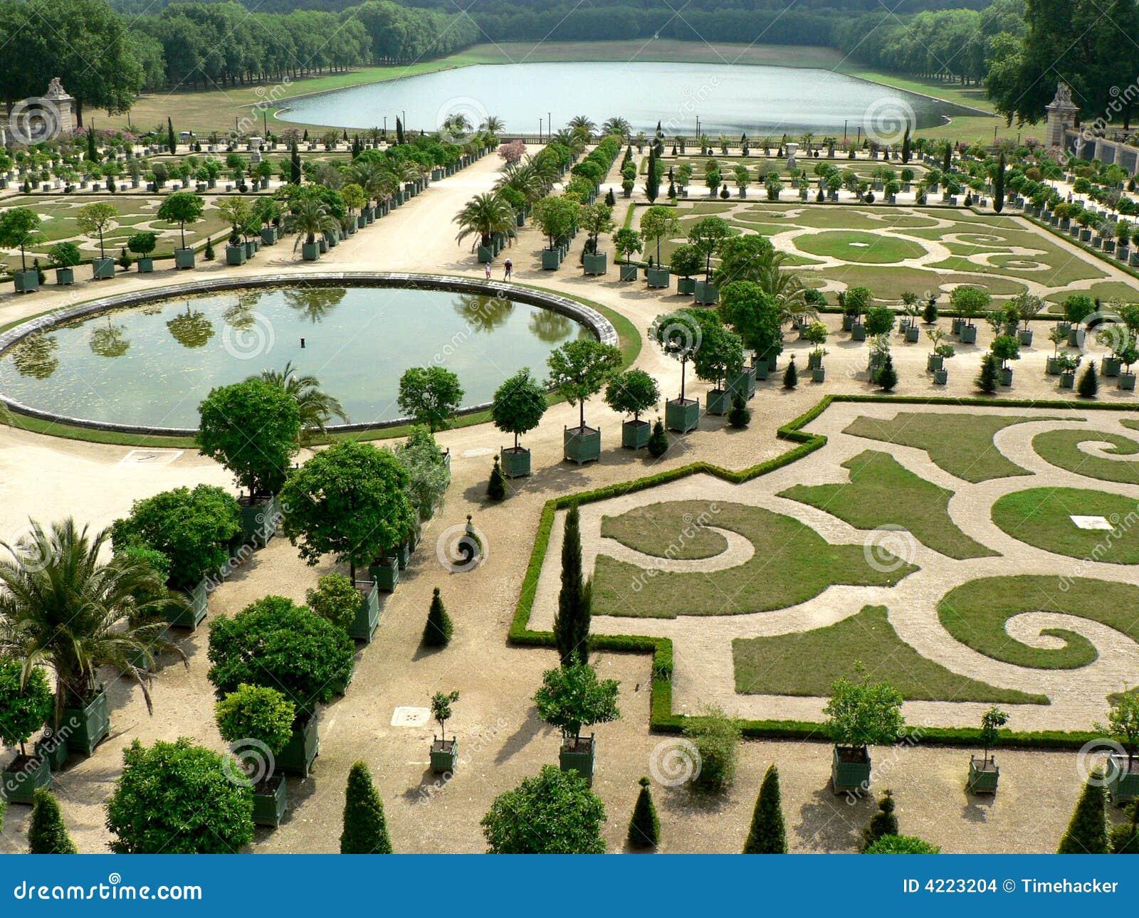 Tuinen Van Versailles Stock Foto Afbeelding Bestaande Uit