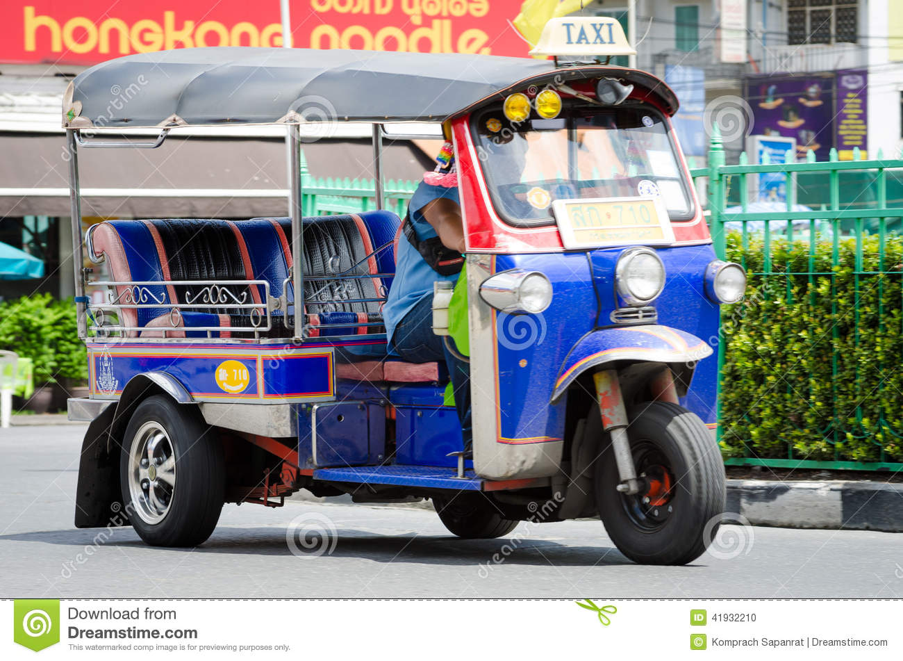 TUK TUK Tricycle Thailand Taxi. Editorial Image - Image of ...