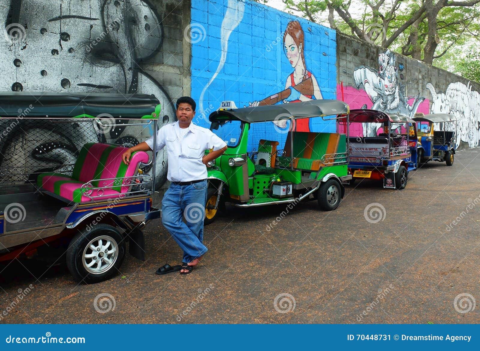 Tuktuk kierowca w Bangkok, Tajlandia