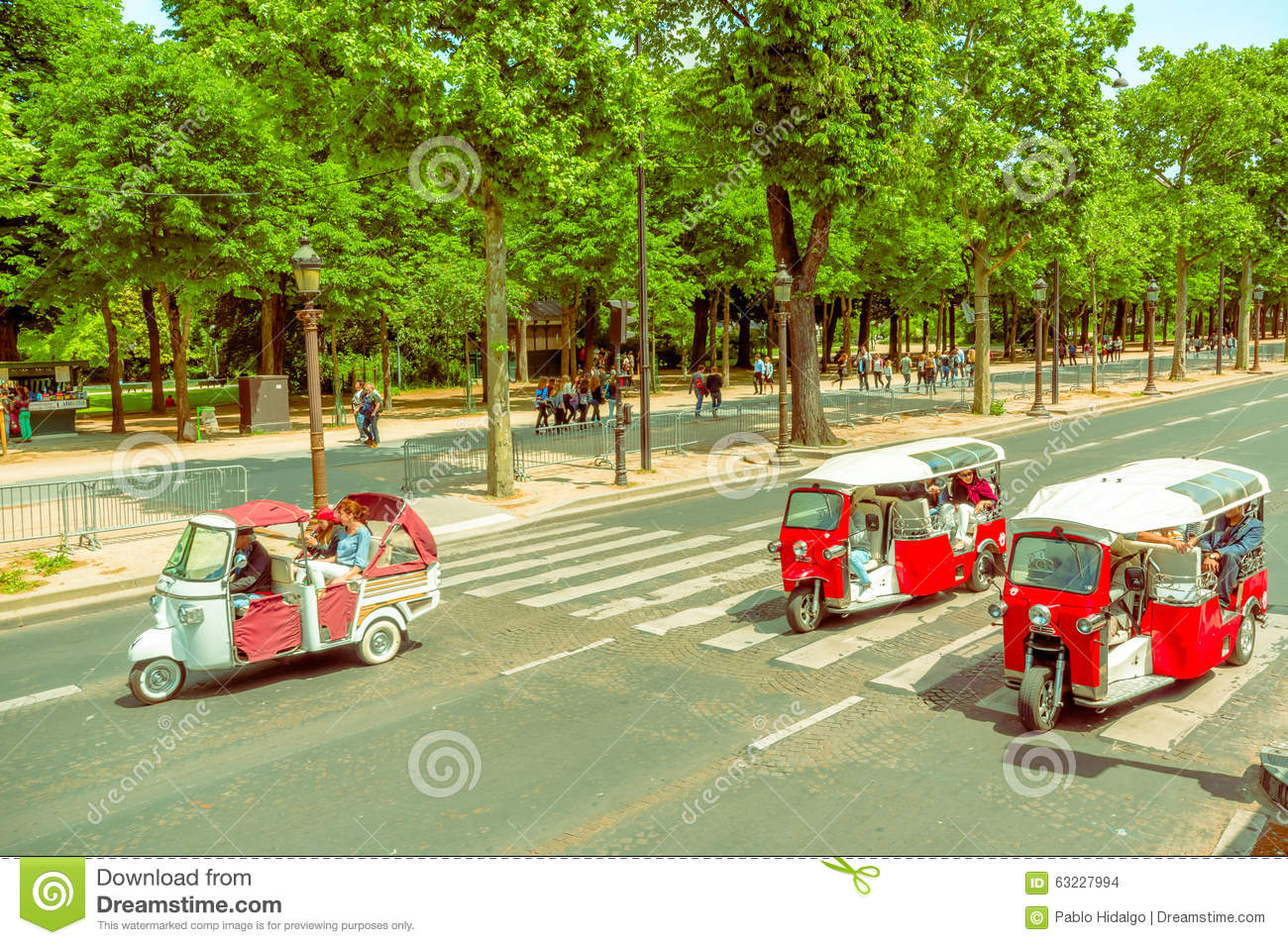 tuktuk taxi in paris france editorial stock image image. Black Bedroom Furniture Sets. Home Design Ideas