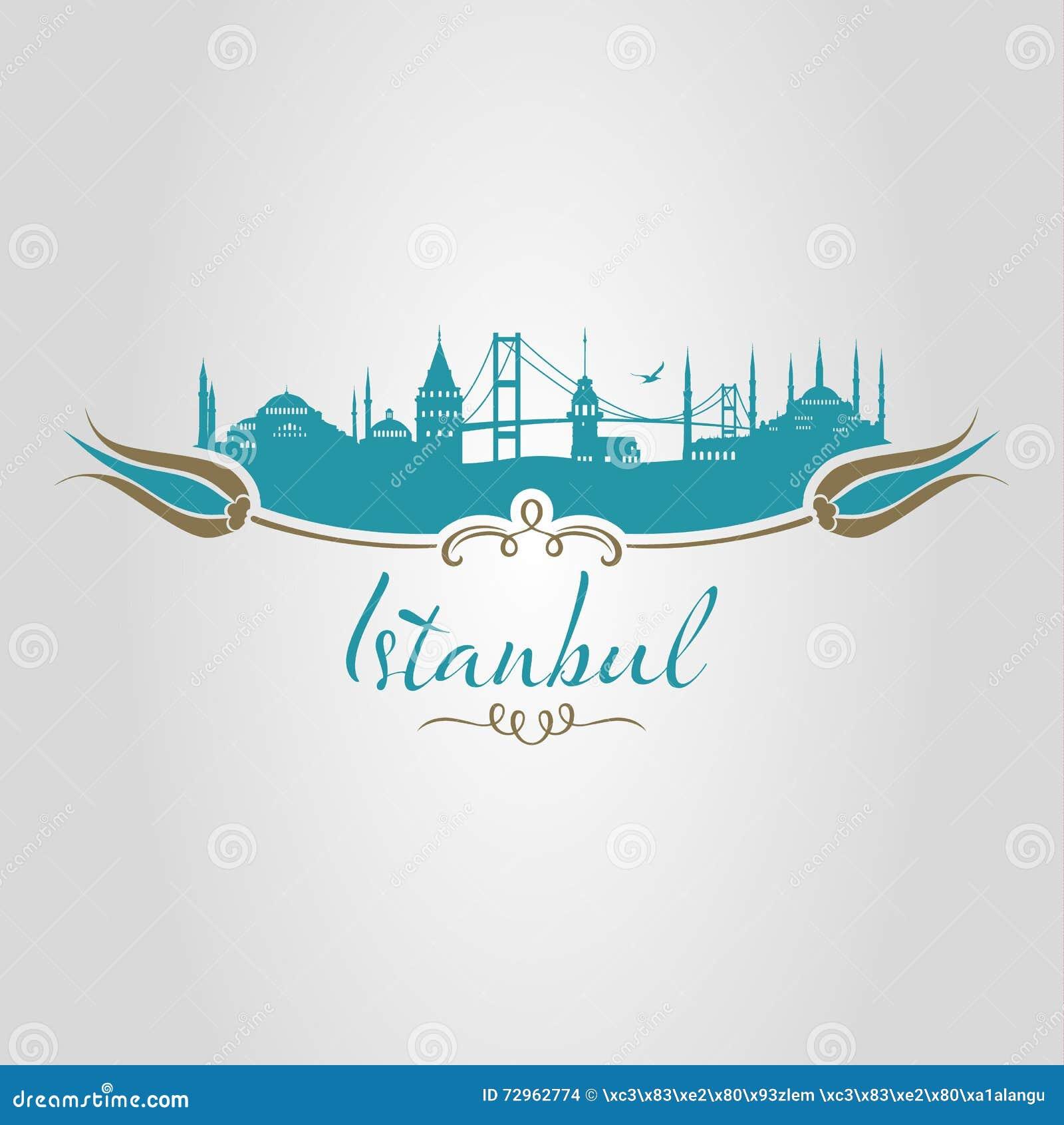 Tulipán de la silueta de Estambul