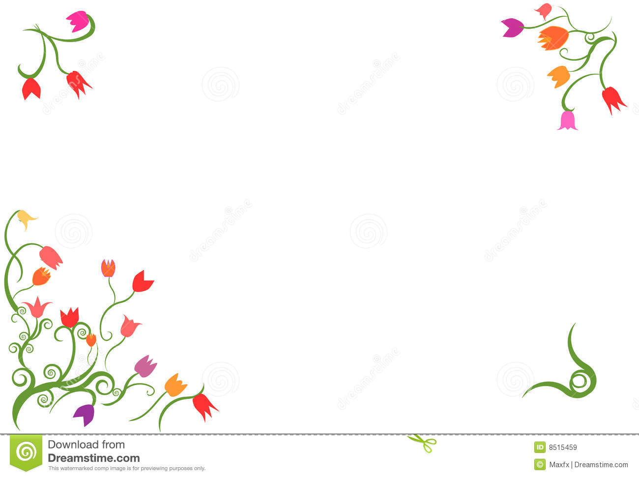 Tulip border frame vector stock vector. Illustration of ...Tulips Page Borders Clipart Free