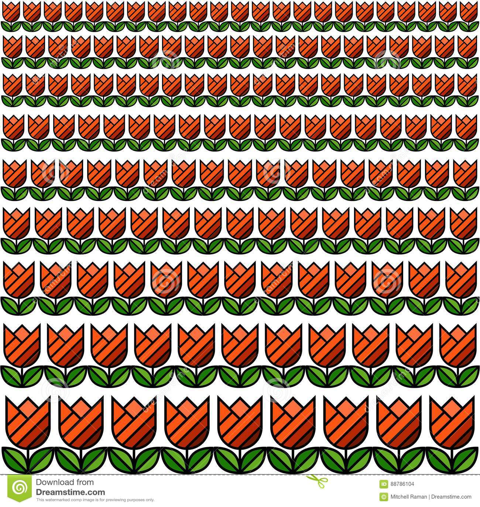Tulip Field Texture Pattern