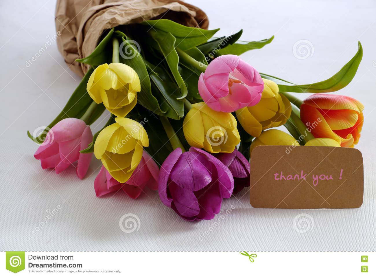 Tulip flower bouquet to happy mother day stock photo image of tulip flower bouquet to happy mother day colourful artificial izmirmasajfo Images